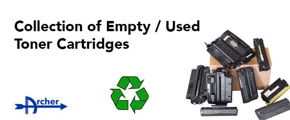 Collection of Empty Toner Cartridges